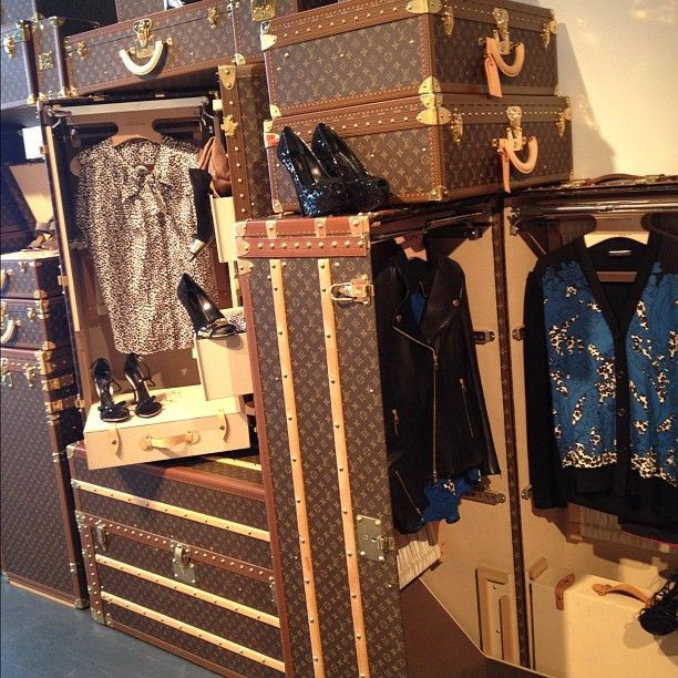 Organizing Your Closet With Louis Vuitton Trunks Of Course.