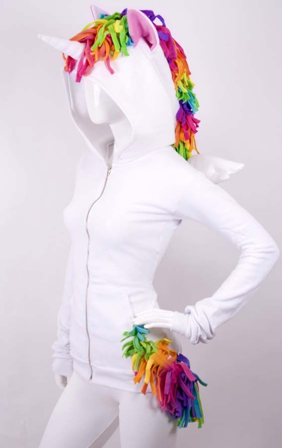 Unicorn Hoodie....I would totally wear this in public. No shame.