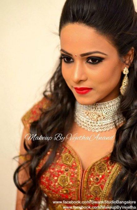 55+ ideas for bridal hairstyles indian receptions eye makeup