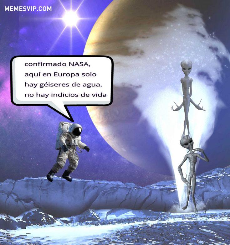 Meme Nasa agua luna Europa