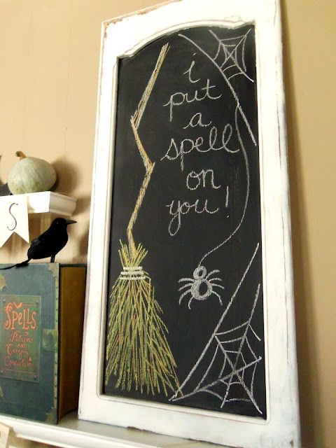 Halloween chalkboard drawing - I love this one - Sisters We Ride!!!!!!!!!!!!!!!!!!
