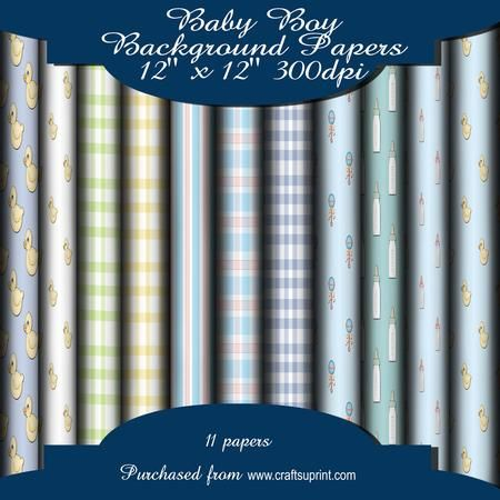 Baby Boy Background Papers  on Craftsuprint - Add To Basket!