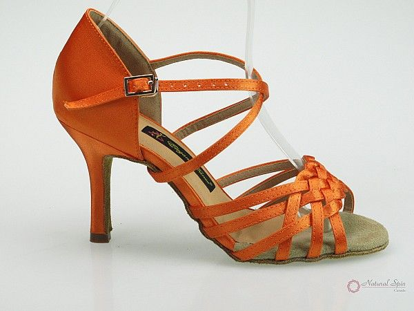 Natural Spin Latin Shoes(Open Toe):  M11125-02_OrJS
