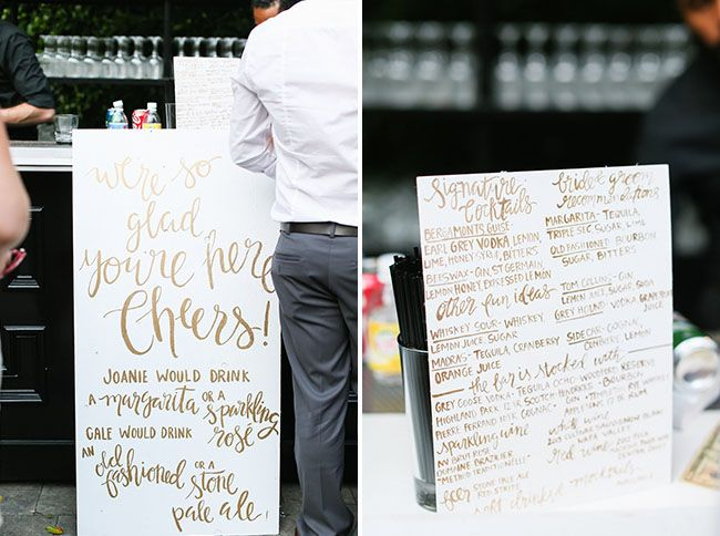 White + Gold Signs | Photography: Max and Friends