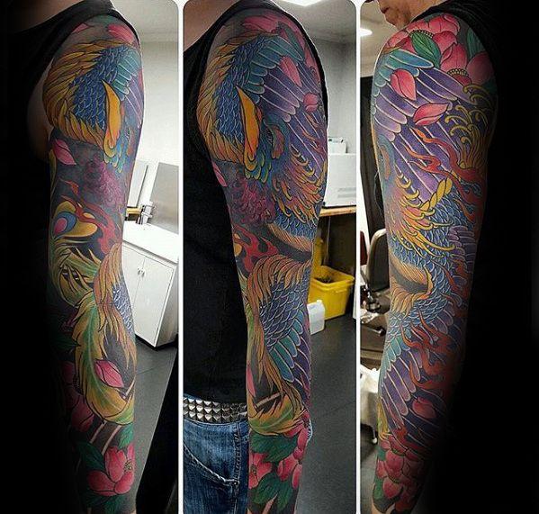 Colored Phoenix Sleeve Tattoo For Men: 25+ Best Ideas About Japanese Phoenix Tattoo On Pinterest
