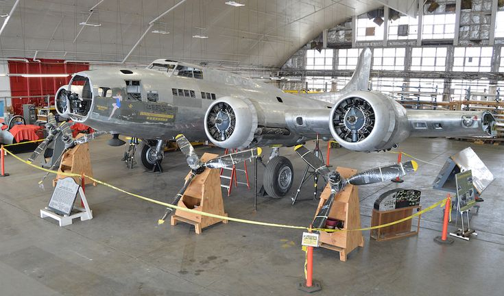 Boeing B-17F-10-BO Flying Fortress 41-24485, Memphis Belle, under restoration at the National Museum of the United States Air Force, Wright-Patterson Air Force Base, Dayton, Ohio. (U.S. Air Force)