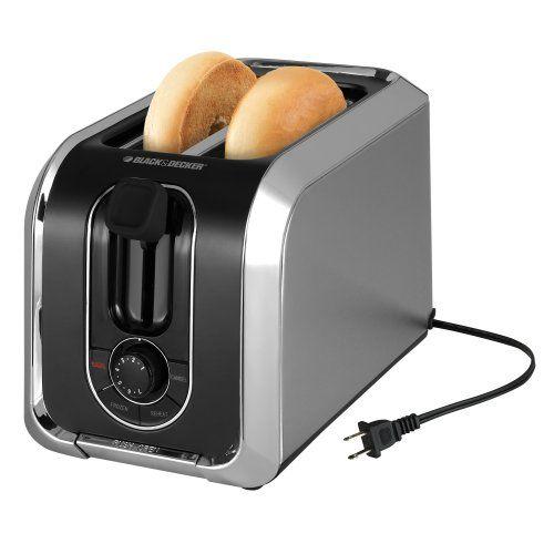 Black & Decker TR1200SB 2-Slice Stainless Steel Toaster with Retractable Cord, Stainless Steel Black & Decker http://www.amazon.com/dp/B003A0CQI6/ref=cm_sw_r_pi_dp_k9RPub1BD2W3G
