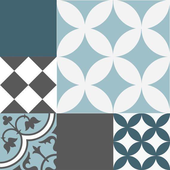 mlange tuile stickers cuisinesalle de bain carreaux vinyle dalles livraison gratuite conception 308 - Stickers Tuile Vinyle Salle De Bain