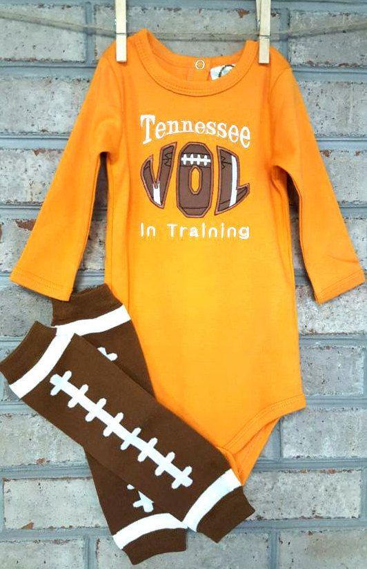 Baby Onsie Tennessee Vols Football Leg Warmers