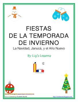 Spanish Christmas, Hanukkah, and New Year  Vocabulary and
