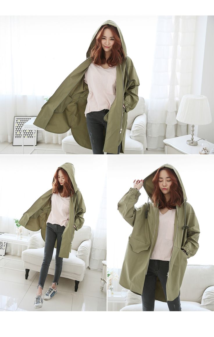 comfortable casuallook shopping mall. Have Variety sizes of The Daily look.[PINKSISLY] Outer Jumper / Zip up Long jumper Gini co-field image