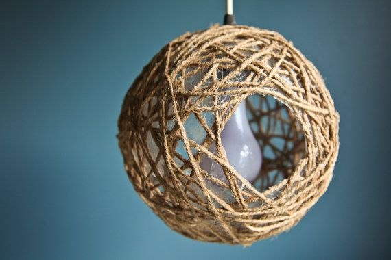 Hemp Lantern by stephaniechandler on Etsy, $45.00. Love this, used to make these when I was little. :)