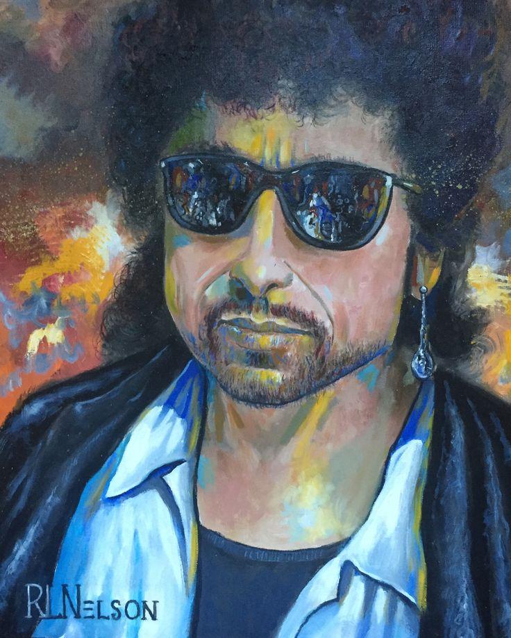 Bob Dylan 2013 by Robert Lyn Nelson b.1955   ACRYLIC/canvas 20x24  #bobdylan #portraits #music #robertlynnelson  #singer #art #songwriter #icons #americanportraits  @robertlynnelson.com