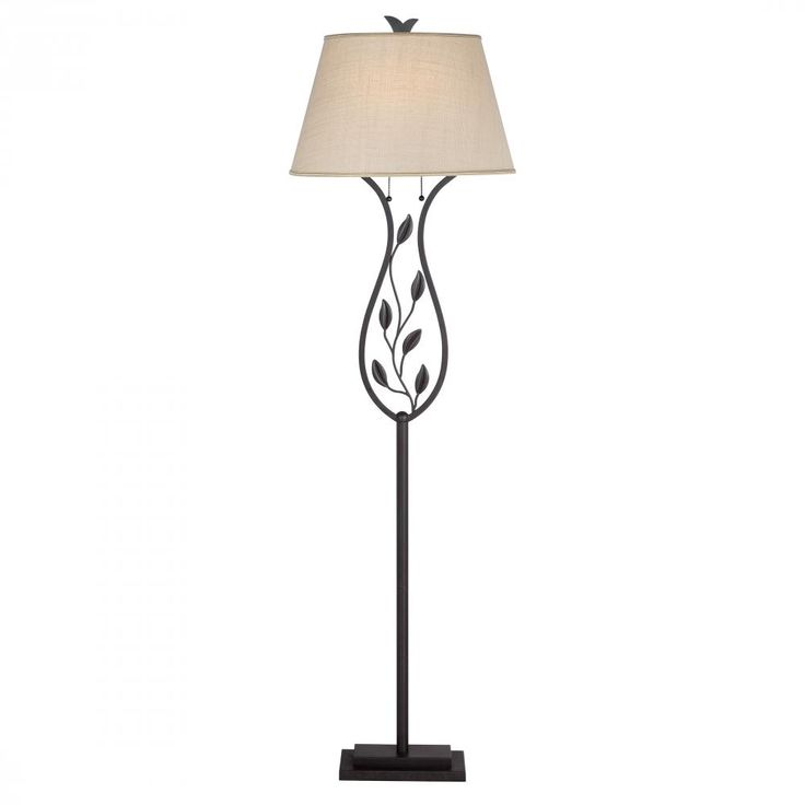 The Leaves On This Bronze Floor Lamp From Quoizel Are Such A Pretty Touch