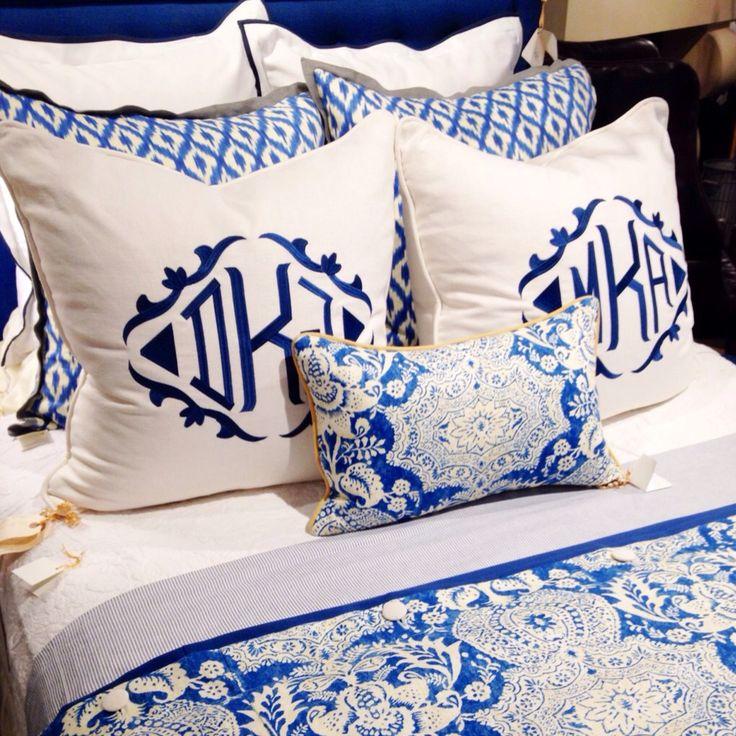 Blue, White & Monogrammed