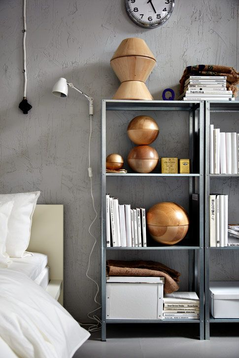 New steel shelf from IKEA called HYLLIS – simple shape and only 69 kr.