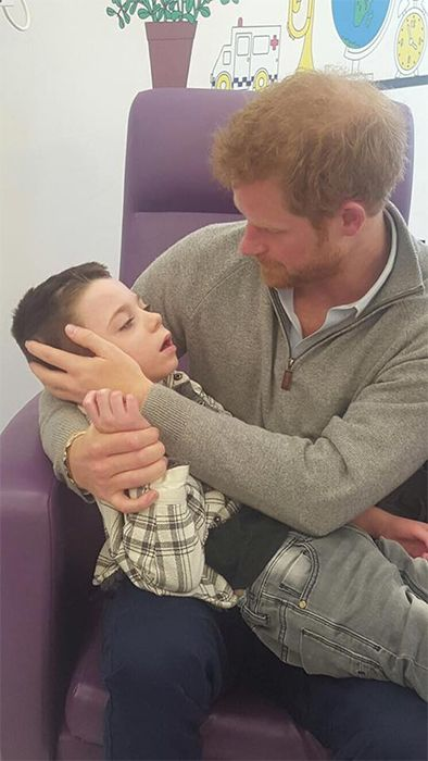 The Prince paid a surprise visit to Ollie on Tuesday