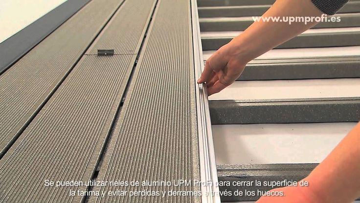 Como instalar la tarima tecnológica UPM ProFi Deck. Vea el video o leer más sobre la instalación en el www.upmprofi.es/instalacion/