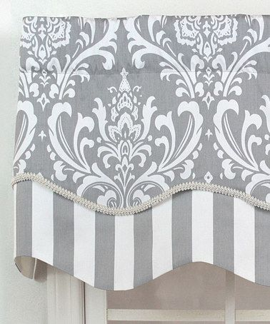 Loving this Gray Regal Medallion Glory Valance Panel on #zulily! #zulilyfinds