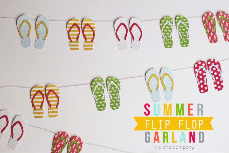 FREE Printable Summer Flip Flop Garland