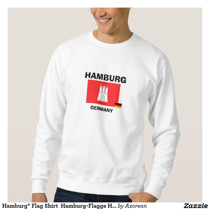 Hamburg* Flag Shirt  Hamburg-Flagge Hemd