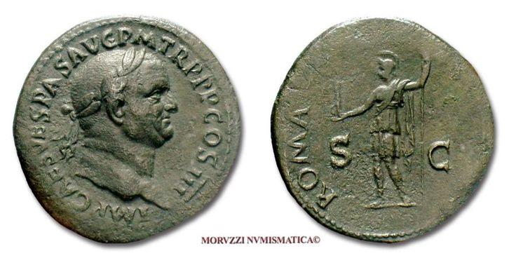 Ancient Coins - Vespasian SESTERTIUS 71 AD ROMA S C Roman coin for sale