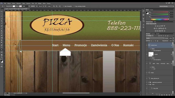 Kurs Photoshop projektowanie stron : Projektowanie menu głównego