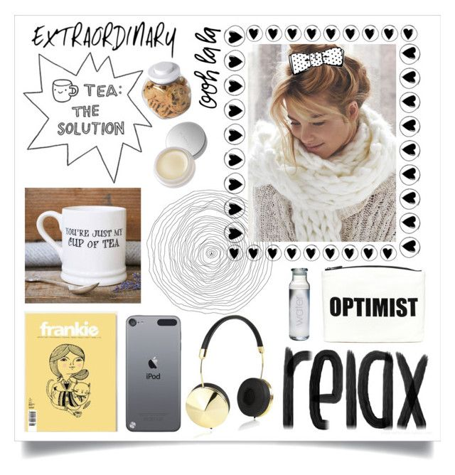 """""""time for tea"""" by stephaniejs-1 on Polyvore featuring interior, interiors, interior design, home, home decor, interior decorating, SUQQU, Frends, Hayden-Harnett and OXO"""