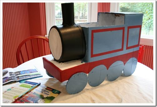 How to make a cardboard Thomas the tank engine