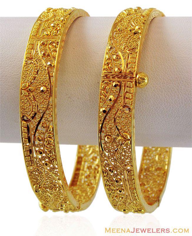 Handmade Filigree Gold Kada (1PC)