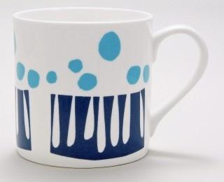 Porcelain mug by Lotta Jansdotter: Mugs Lotta, Smith Mugs, Jansdotter Karmel, Art Inspiration, Lotta Jansdotter, Blue Mugs, Kitchen, Favourite Designers