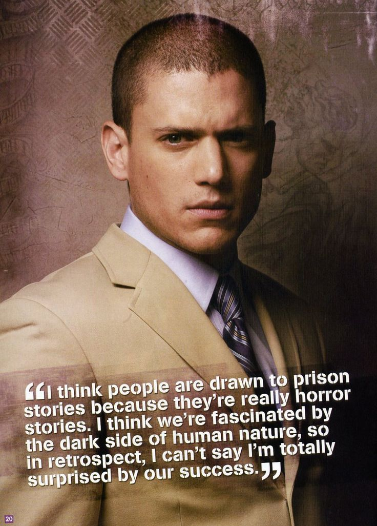 famous prison break quotes | ... in the December 2006/January 2007 issue of Prison Break Magazine