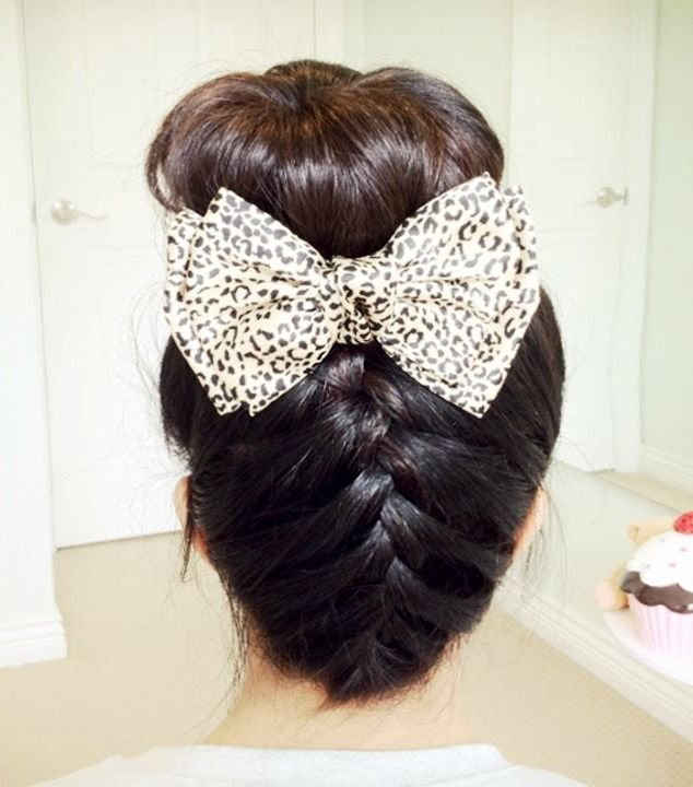 15 Ways To Wear An Inverted Braid.  Upside Inverted Braid with Sock Bun    This is a new take on two timeless hairstyles; the braid and sock bun.  Video tutorial on Bebexo's Youtube Channel