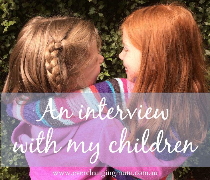An interview with my children