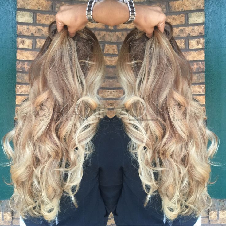 Sexy Curls Sandy Blonde Ombr 233 Balayage Hair Done By Bianca Pinterest