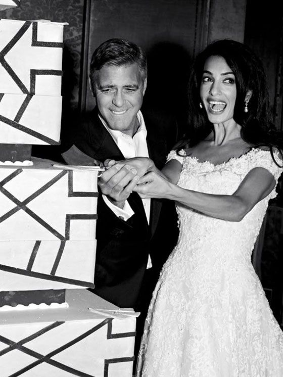 George Clooney & Amal Alamuddin's wedding LOVE the dress!  and George