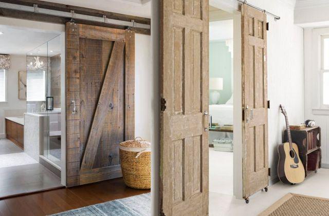 15 inspirations pour recycler une porte ancienne - Fabriquer une porte de placard ...