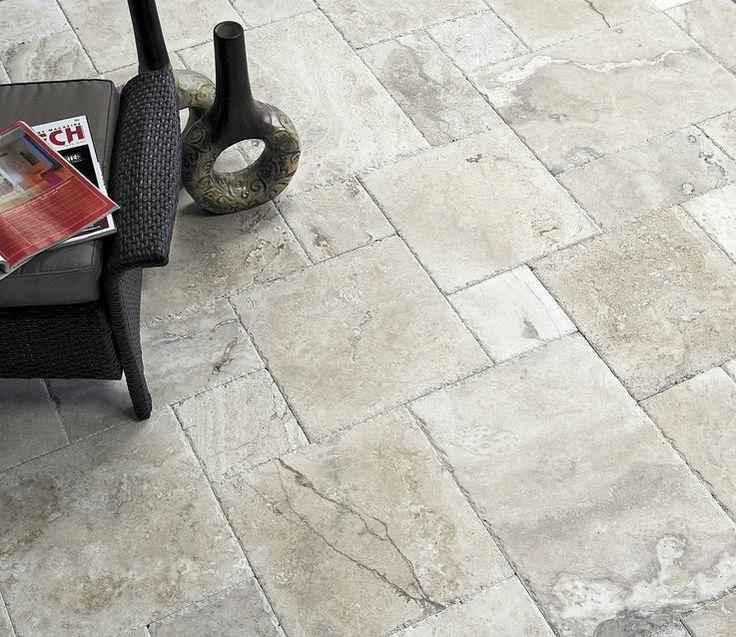 Travertine tile flooring chiseled edge flooring tile for Best grout color for travertine tile