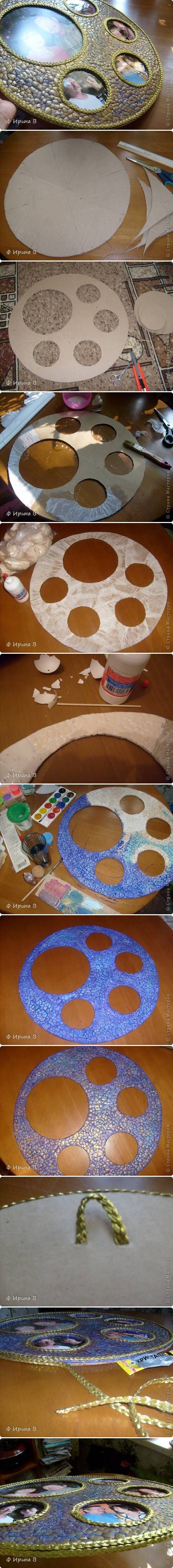 DIY Eggshell Panorama Frame