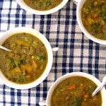 Curried 3-Lentil Vegetable Soup via AmyChaplin.com