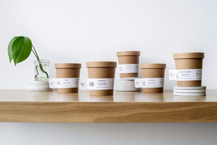 rhoeco - fine organic goods | packaging  #herbaltea #teablends #packaging #design #branding #graphicdesign