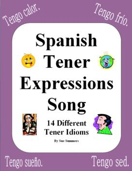 Spanish Songs - Spanish Tener Expressions Song With Actions - Tengo Suerte by Sue Summers - This song contains 14 different tener expressions!