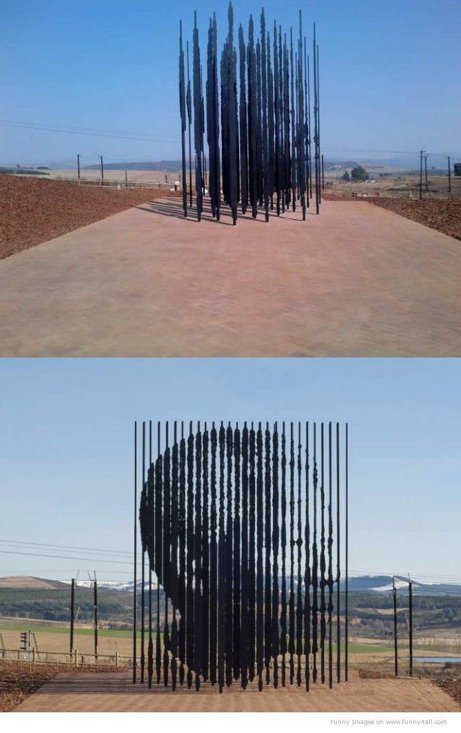 Nelson Mandela Prison Bar Installation Art