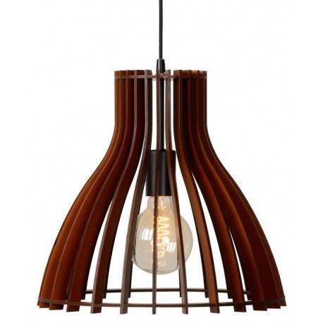 Stylowa drewniana lampa wisząca Bounde marku Lucide w kolorze ciemnego drewna. https://blowupdesign.pl/pl/31-wiszace-stojace-lampy-drewniane-design-skandynawski #lampydrewniane #lampywiszące #oświetlenie #woodenlamps #woodenlighting