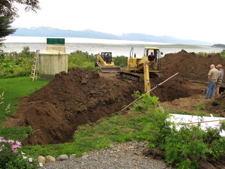The BioCycle - fancy septic system being installed