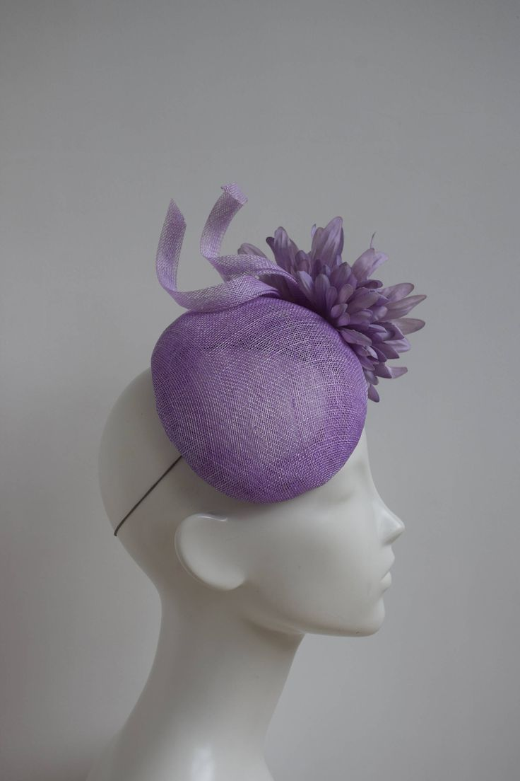 Lilac Fascinator - Kate Hat - Lavender Cocktail Hat - Lilac Wedding Hat - Pastel Pale Purple Hat - Mother of Bride Hat - Race Derby Day Hat by TillyEllenMillinery on Etsy