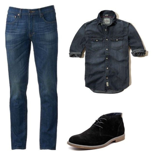 casual by luziagalvang on Polyvore featuring Hollister Co., Urban Pipeline, Hush Puppies, men's fashion and menswear