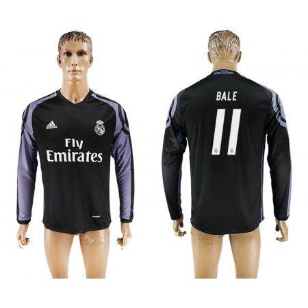 Real Madrid 16-17 Gareth #Bale 11 3 trøje Lange ærmer,245,14KR,shirtshopservice@gmail.com
