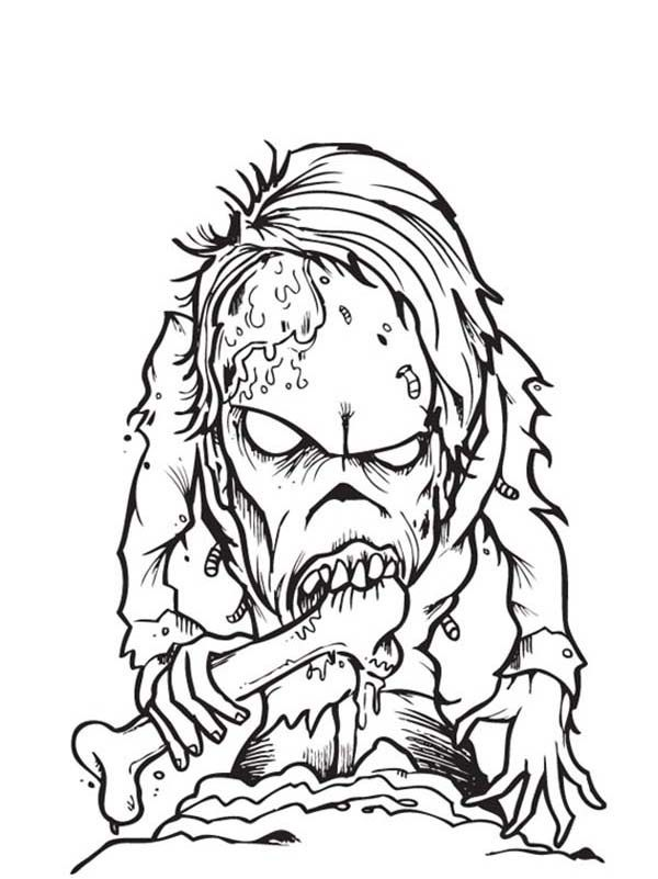 Free Printable Zombies Coloring