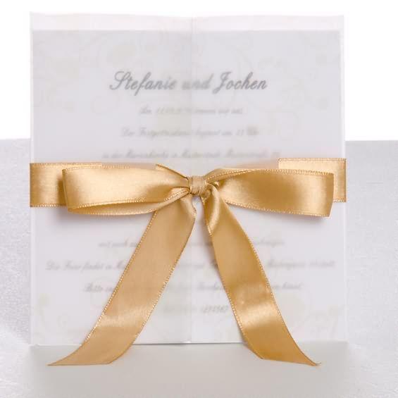 Leben ist ein Gedicht Mit goldem Band Schleife Exclusive Luxus Hochzeitskarten